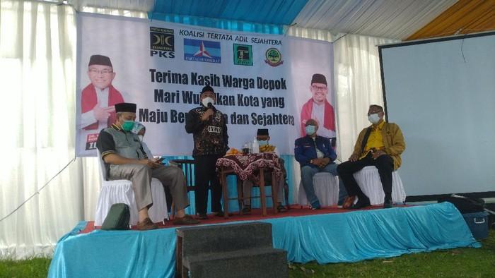 Mohammad Idris di relawan Idris-Imam, di Cilodong, Kota Depok
