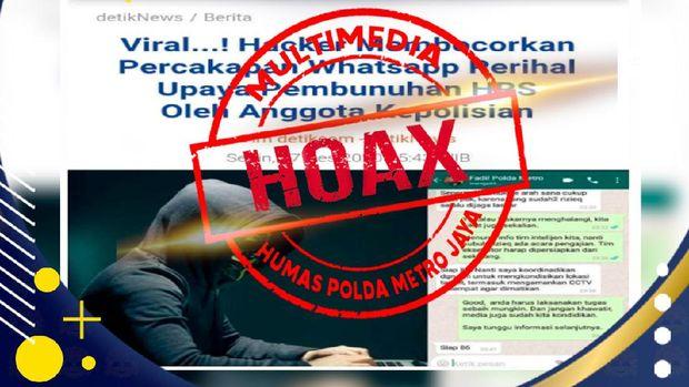 Percakapan seolah-olah dilakukan Kapolda Metro Jaya Irjen Fadil Imran yang dipastikan hoax