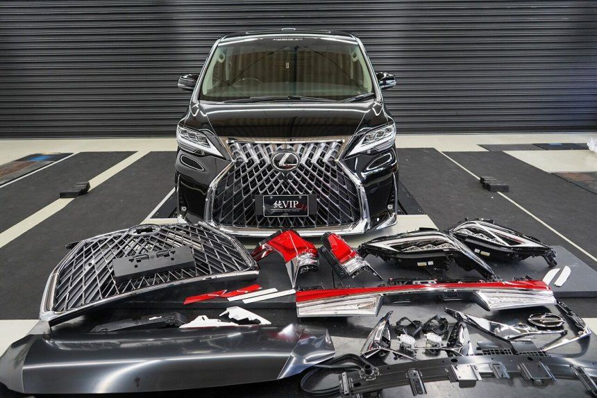 Toyota Alphard Dimodifikasi Jadi Lexus LM