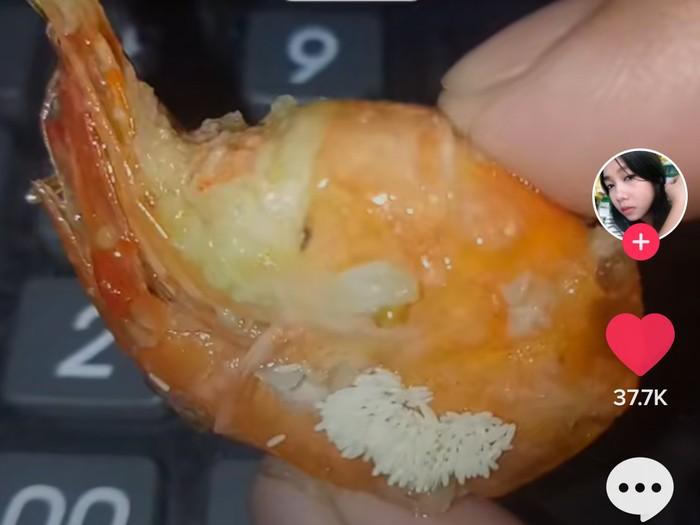 Wanita Ini Curhat Udang Gorengnya Penuh Telur Lalat