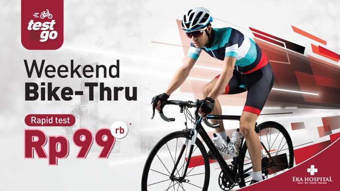 Eka Hospital berinisiatif menghadirkan layanan Weekend Bike Thru yang dapat diakses para pecinta sepeda.