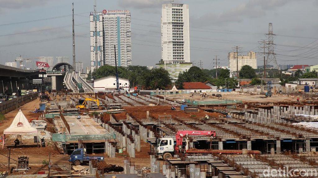 Pembangunan Depo LRT Jabodebek Terus Dikebut