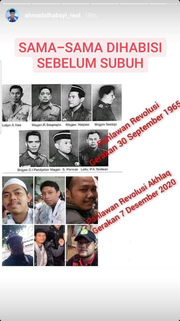 Ustaz Al Habsyi sandingkan enam pengawal HRS yang tewas dengan pahlawan revolusi