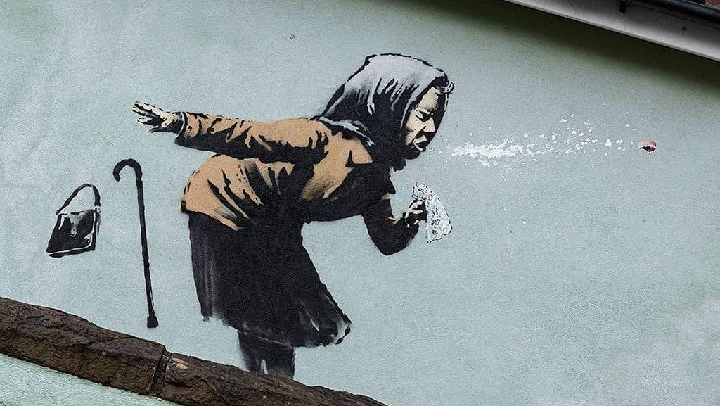 Duh! Dua Mural Banksy Dirusak di New Orleans Gegara Seniman Lain