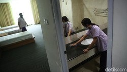 Sebanyak 56 kamar di Wisma Jakarta Islamic Center, Jakarta Utara, siap menampung pasien isolasi COVID-19.