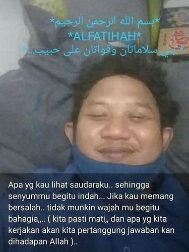 Foto hoax jenazah laskar FPI tersenyum