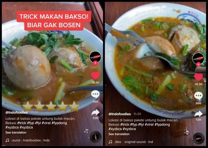 Netizen Ungkap Trik Makan Bakso Biar Nggak Bosan, Campur Bumbu Ini!