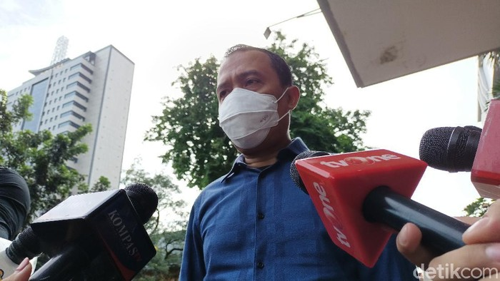 Pengacara Habib Rizieq, Sugito Atmo Parwiro di Polda Metro Jaya