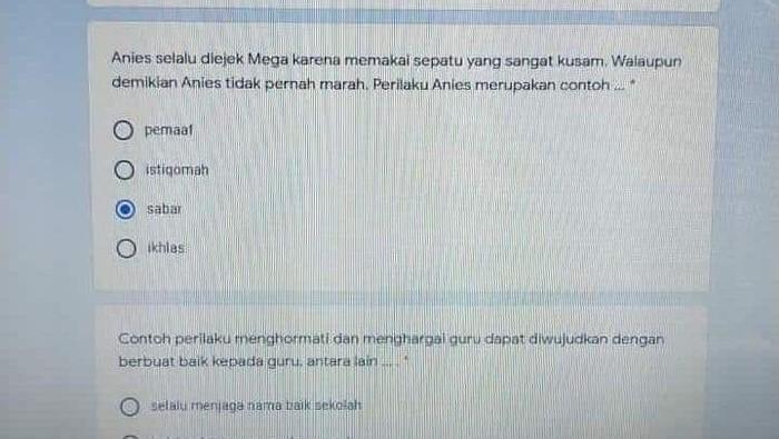 Soal Ujian Sekolah Anies diejek Mega