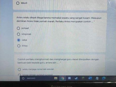 Soal Ujian Sekolah 'Anies diejek Mega'
