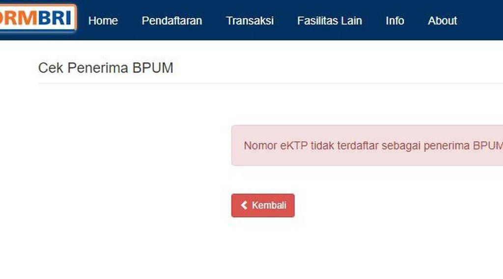 Cek Penerima BLT UMKM 2021 Rp 1,2 Juta, Klik eform.bri.co.id/bpum