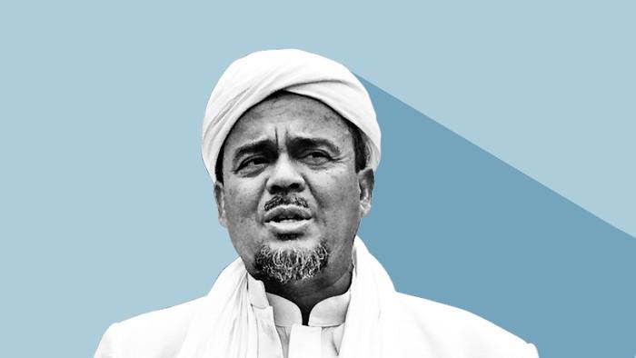 Habib Rizieq Pulang, Picu Kerumunan, Lalu Ditahan (Infografis detikcom)