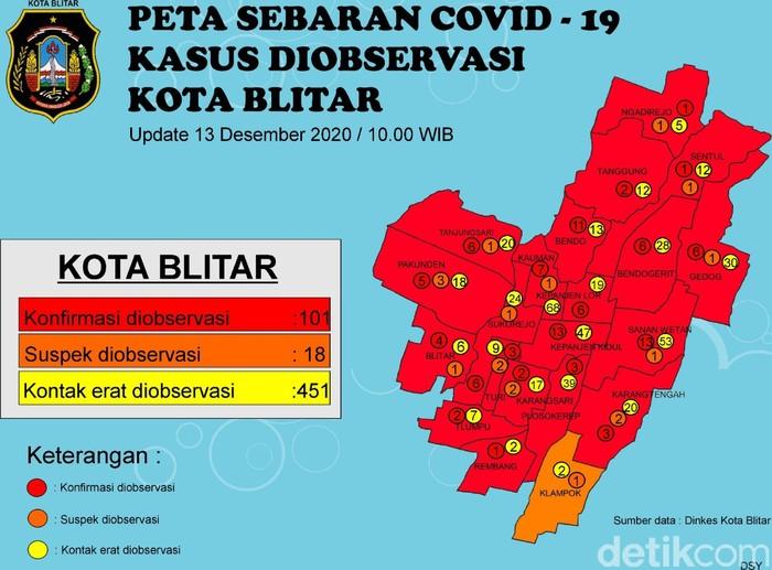 Kota Blitar masih di zona merah paparan COVID-19