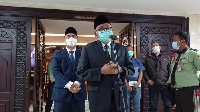 M Taufik usai Rapat Pripurna DPRD DKI Jakarta.