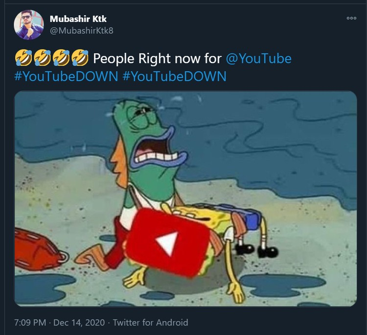 Meme YouTube tumbang