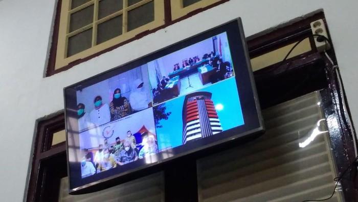 Sidang eks anggota DPRD Sumut diduga terima suap dari Gatot Pujo (Datuk Haris-detikcom)