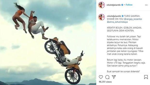 Kelakuan turis Rusia di Bali.
