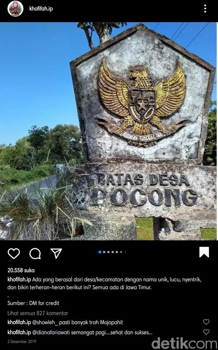 13 Desa di Jatim Dengan Nama Unik dan Nyleneh, Ada Pacar Peluk hingga Brondong