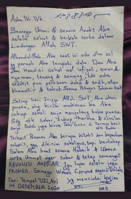 Habib Rizieq Minta Dikirimi Kurma Untuk Sahur, Sesuai yang Dianjurkan Nabi Muhammad SAW