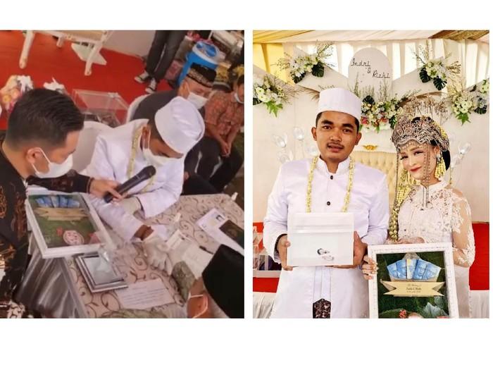 Mahar ikan cupang blue rim. Pernikahan Indri Nita sari dan Rizki muhammad