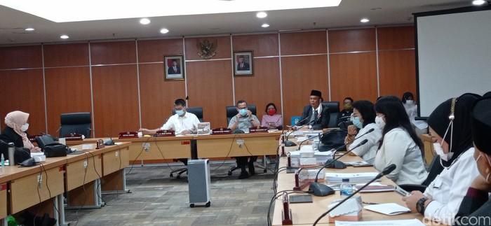 Ketua DPRD DKI cecar guru pembuat soal Anies diejek Mega (Wilda/detikcom)