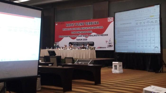 Rapat pleno hasil penghitungan Pilkada Medan (Datuk-detikcom)