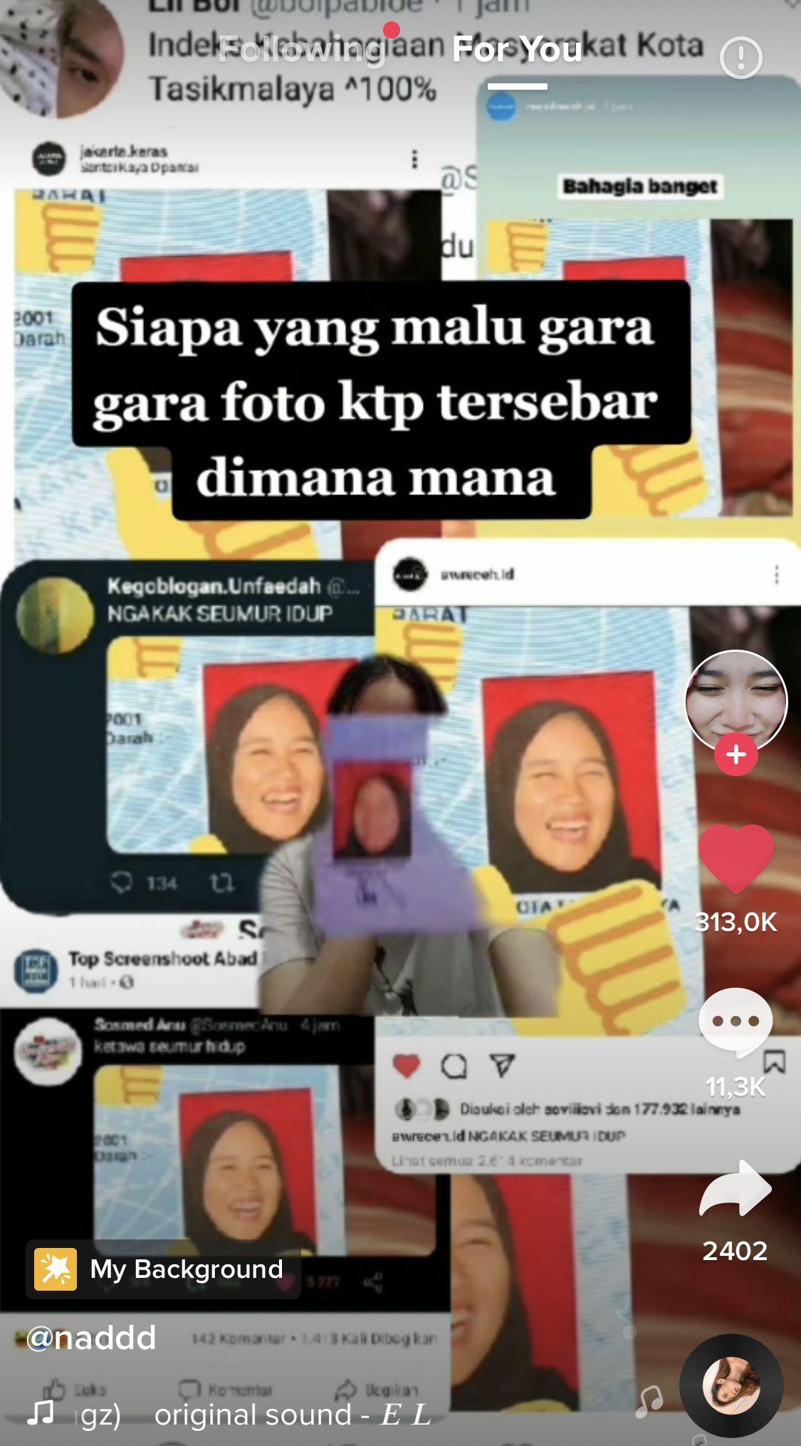 Nadila suhendar yang viral karena foto ktpnya yang tampak sedang tertawa