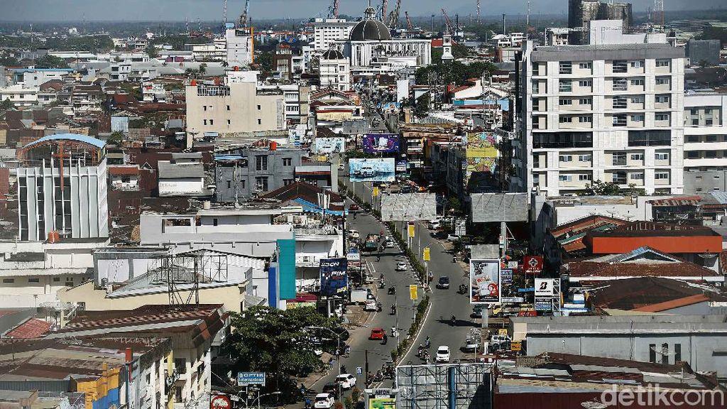 Begini Wajah Kota Pontianak dari Ketinggian