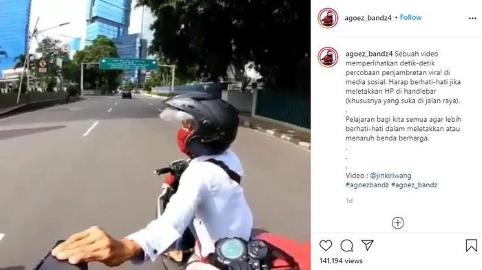 Pengguna skuter listrik nyaris jadi korban jambret