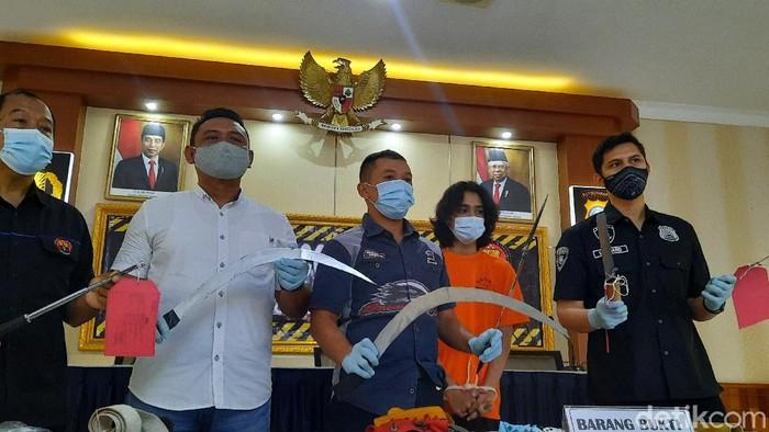 Rilis kasus konvoi bawa sajam hendak tawuran di Sleman, Rabu (16/12/2020)