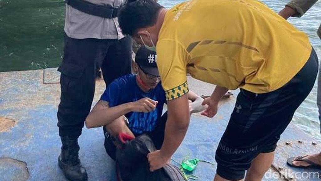 Ngapung Mau Berenang ke Malang, Begini Evakuasi Dedik di Pelabuhan Balikpapan