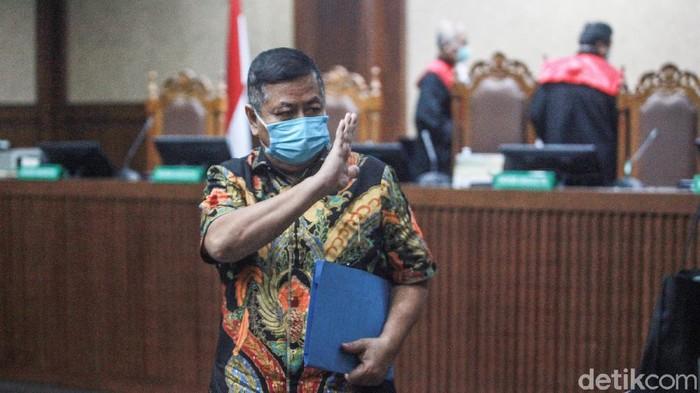 Perantara suap Djoko Tjandra ke Irjen Pol Napoleon, Tommy Sumardi mengikuti sidang pembelaan (pledoi)  di Pengadilan Tipikor, Jakarta, Kamis (17/12/2020).