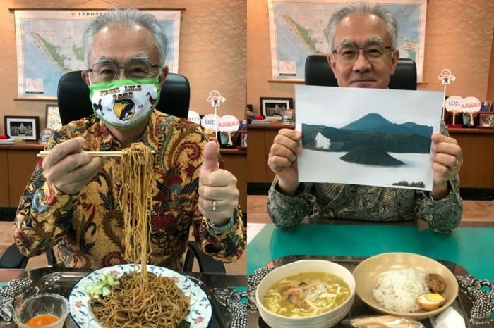 Dubes Jepang Makan Siang Pakai Makanan Indonesia