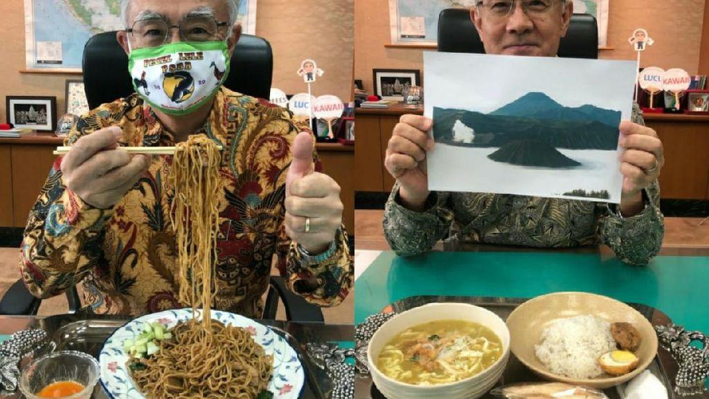 Dubes Jepang Cicip Nasi Ulam hingga Ikan Woku Sebelum Jabatannya Berakhir