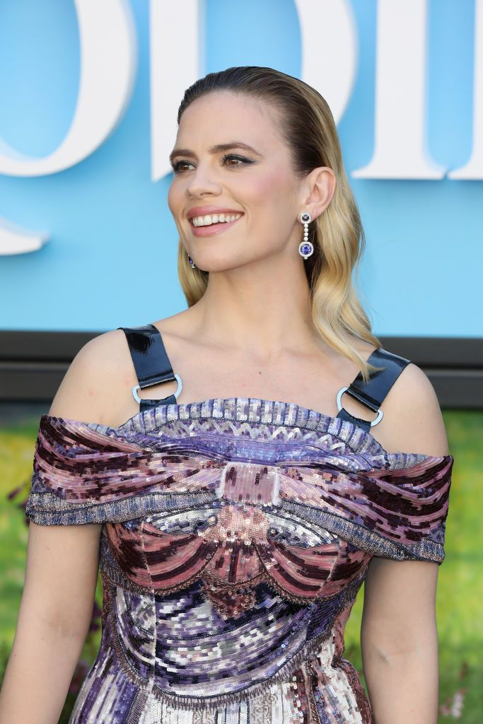 LONDON, ENGLAND - AUGUST 05:  Hayley Atwell attends the European Premiere of 'Christopher Robin' at BFI Southbank on August 5, 2018 in London, England.  (Photo by Tristan Fewings/Getty Images)