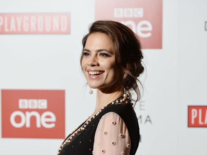 LONDON, ENGLAND - AUGUST 16:  Hayley Atwell attends The Children Act UK Premiere at The Curzon Mayfair on August 16, 2018 in London, England.  (Photo by Tim P. Whitby/Getty Images)