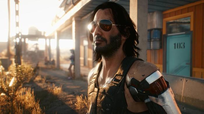 Keanu Reeves di Cyberpunk 2077