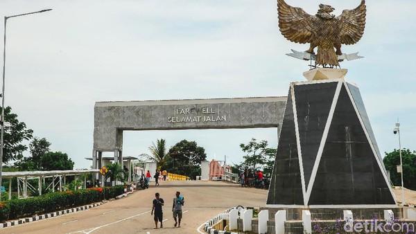 PLBN Motamasin diresmikan oleh Presiden Joko Widodo pada 2017 lalu.