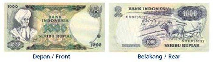 Uang Rp 1000 Tahun Emisi 1975 gambar Pangeran Diponegoro. (dok. bi.go.id)