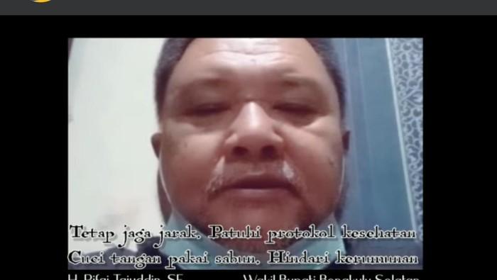 Wakil Bupati Bengkulu Selatan, Rifai Tajudin (dok. Facebook Rifai Tajudin)