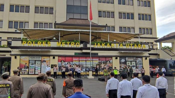 Apel pasukan Operasi Lilin Jaya 2021 di Polres Metro Jakarta Utara