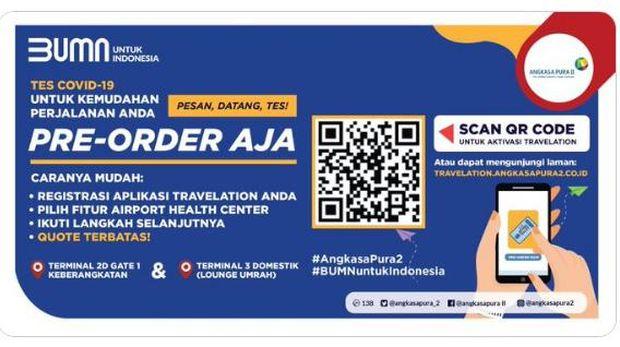 Pre-order tes COVId-19 Bandara Soekarno-Hatta