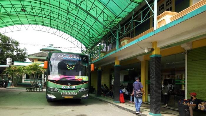 Suasana di loket bus ALS Medan (Datuk Haris-detikcom)