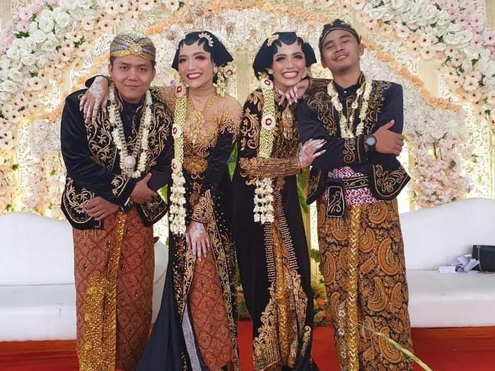 pengantin kembar Dwi Asmitasari (mitta) dan Eka Setiososari. Membuat pengantin pria kebingungan