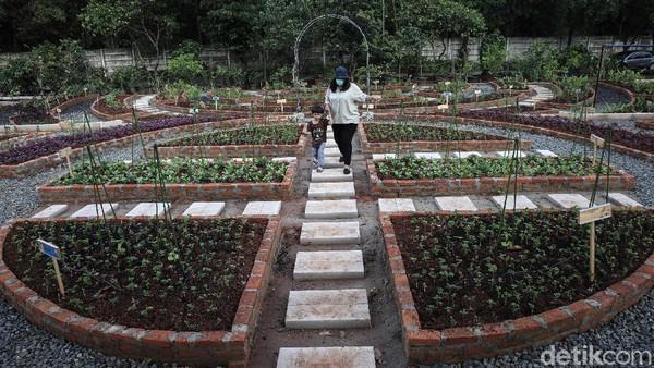 Warga berkunjung ke Agro Edukasi Wisata Ragunan, Jakarta, Senin (21/12/2020).