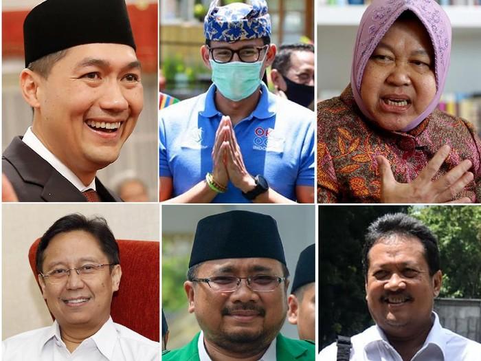 Kolase Foto Menteri Baru Jokowi hasil Reshuffle