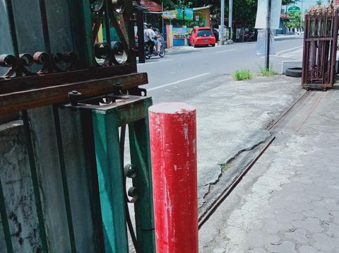 Patok proyek tol di tepi Jalan Klaten - Boyolali