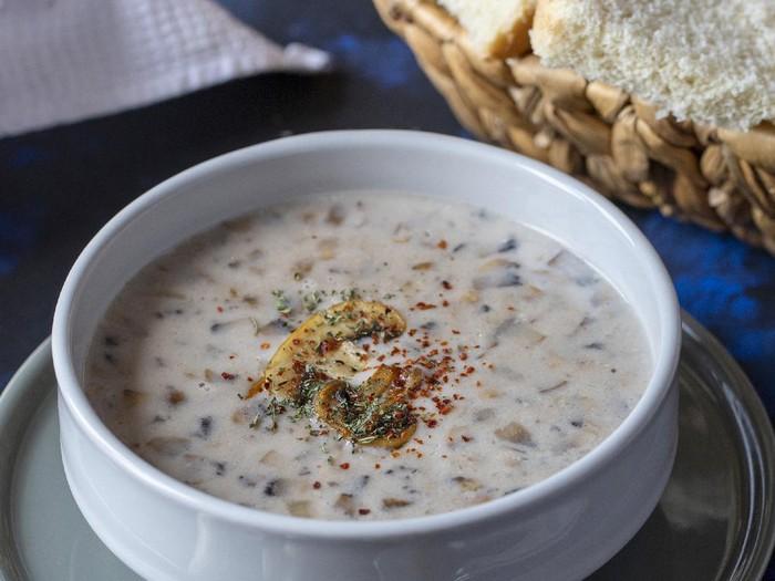Resep Sup Krim Jamur Kancing