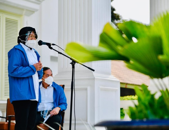 Tri Rismaharini (Risma) saat perkenalan calon menteri (Biro Pers Setpres)