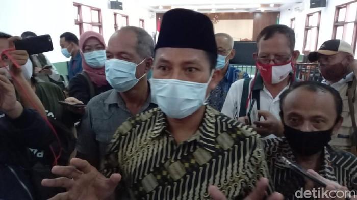 Wakil Ketua DPRD Kota Tegal Wasmad Edi Susilo, terdakwa kasus dangdutan saat pandemi, Selasa (22/12/2020).